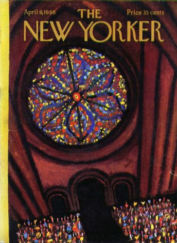 New Yorker cover Kraus stained glass rosette 4/9 1966