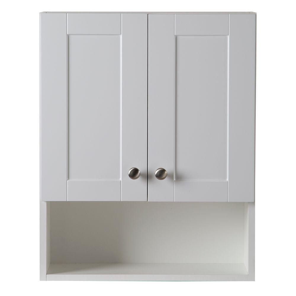 Amazon.com: Glacier Bay Over Toilet Storage Cabinet in White ...