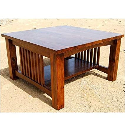 Amazoncom Solid Wood Mission Style Square Coffee Table Kitchen