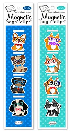 Gatos y perros remarcados con gafas magnéticas clips de ...