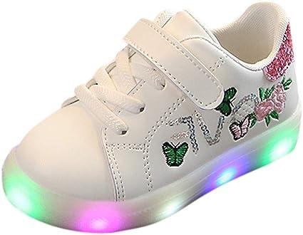 NINGSANJIN bebe Chaussures Enfants LED Lumineuse Chaussures