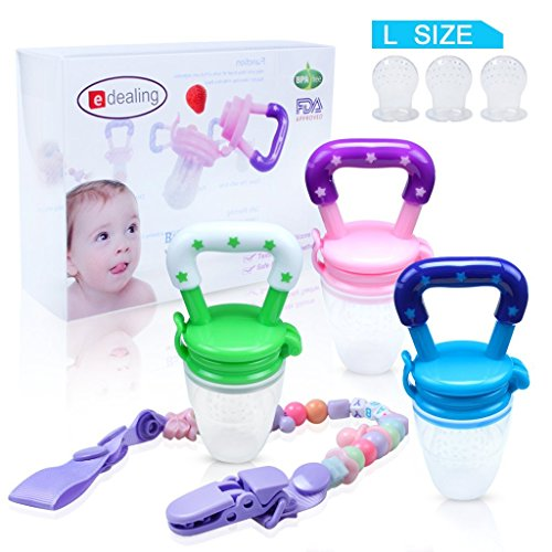 3PCS Nipple Fresh Food Milk Nibbler Feeder Feeding Tool Safe Baby Supplies Toys from edealing