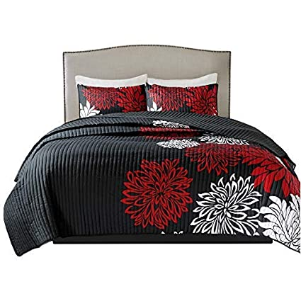 Amazoncom Comfort Spaces Enya 3 Piece Quilt Coverlet Bedspread