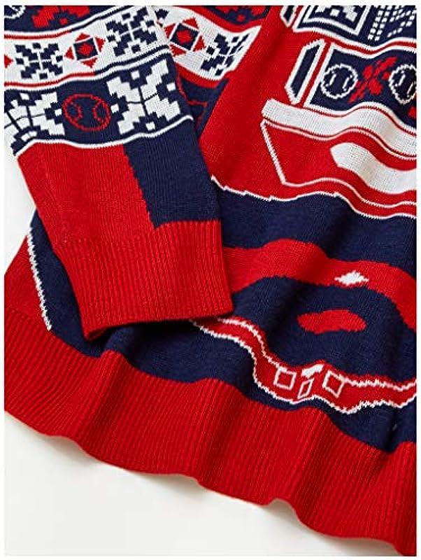 FOCO MLB Ugly Męskie Pullover, Leuchtend, Męskie, Ugly Light UP Sweater, Team Color, Einheitsgröße: Sport & Freizeit