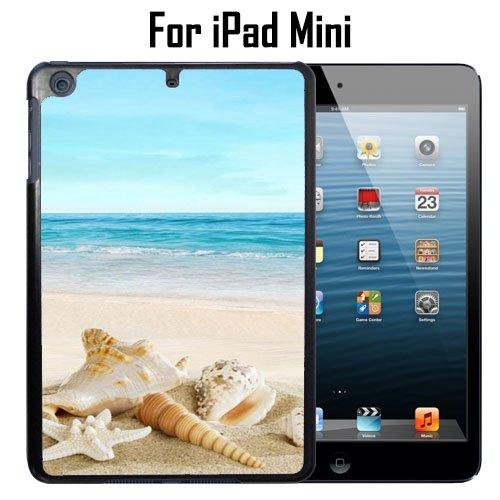 (Ocean Theme Starfish And Seashell On Beach Custom Case/ Cover/Skin *NEW* Case for Apple iPad Mini - Black - Plastic Case (Ships from CA) Custom Protective Case , Design Case-ATT Verizon T-mobile Sprint ,Friendly Packaging - Slim Case)