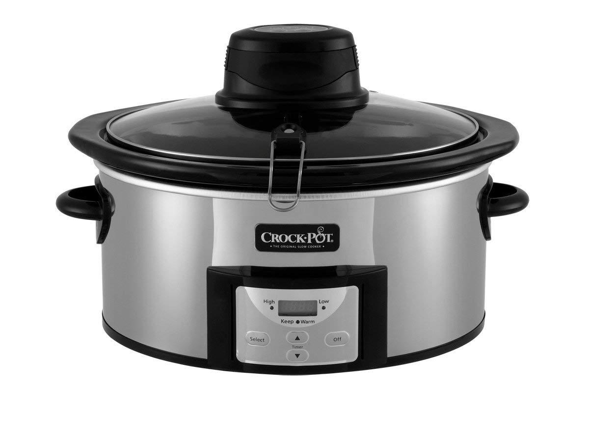 CROCK-POT SCCPVC650ASP 6.5Qt Programmable Slow Cooker with Auto Stir (Renewed)