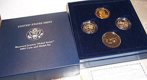 2005 S Westward Journey Nickel Series Coin & Medal Set in OGP Proof ()