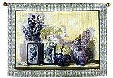 """Ladies Mantle"" Flowers Vases Wall Hanging Tapestry 40"" x 54"""