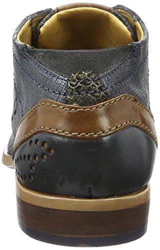 Cordones de Derby D Zapatos Azul Bugatti blau Hombre 4100 312233021000 para nqOStWB