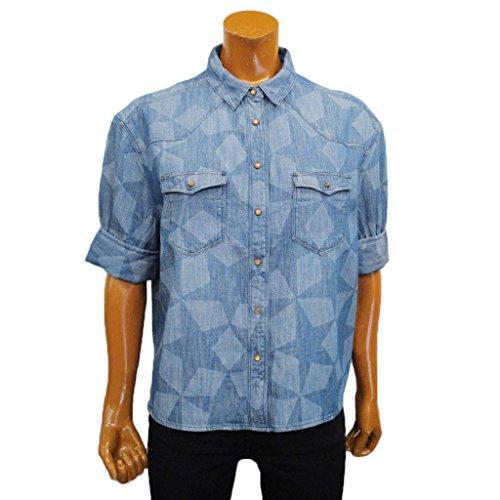 獲物バレーボールアロング(メゾンスコッチ) MAISON SCOTCH WOMEN'S DENIM SHIRT レディース デニムシャツ ブルー S