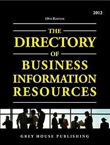 Directory of Business Information Resources 2012 Richard Gottlieb