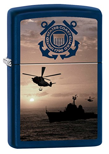Zippo USCG Seal & Helicopter Navy Matte Pocket - Navy Seals Zippo