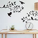 Best Birds Stickers For Wall Arts - Flock of Black Bird Flying to Sky Vinyl Review