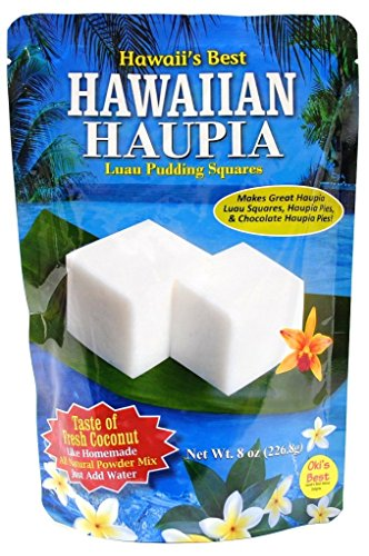 - Kauai Tropical Syrup Hawaiian Haupia Luau Pudding Squares, 8 Ounce