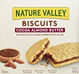 NATURE VALLEY Biscuits with Cocoa Almond Butter, 5 Count, 190 Gram