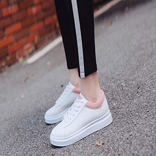 Piattaforma Sneaker Bianca Scarpe Basse Esterno Da Donna Sportive Traspiranti Autunno Ysfu 01Hx7w7