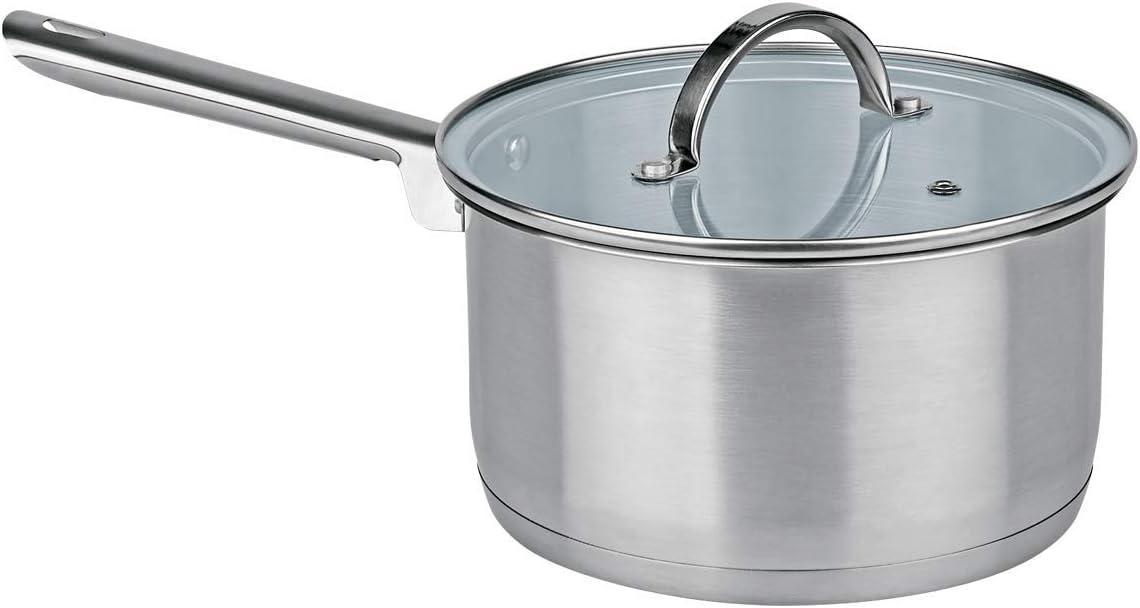 MGE - Cazo de Cocina con Tapa de Vidrio - Cazo de Inducción ...