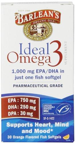 Earth Ultra Omega 3 (Barlean's Organic Oils Ideal Omega-3 Nutritional Supplement Softgel, 30 Count)