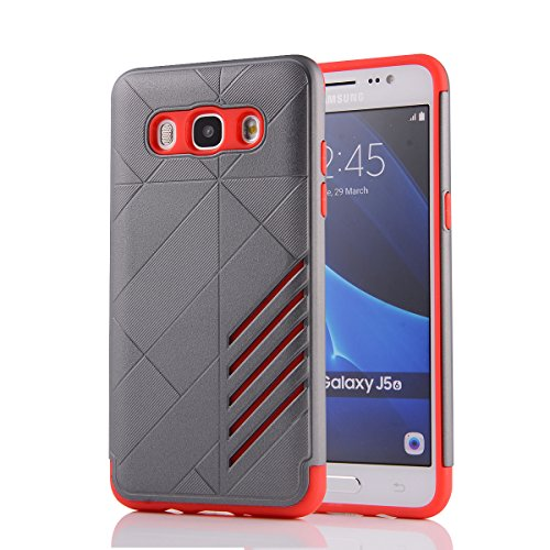 TPU/PC Shockproof Cover Case for Samsung Galaxy J510 J5 2016 (Grey) - 8
