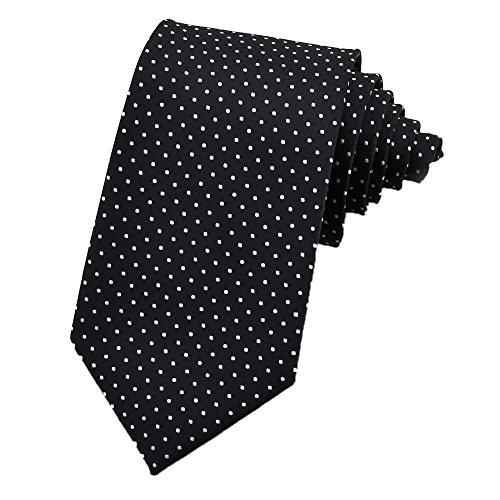 PenSee Mens Fashion Tie Polka Dot Formal Jacquard Woven Neckties - Various Colors]()