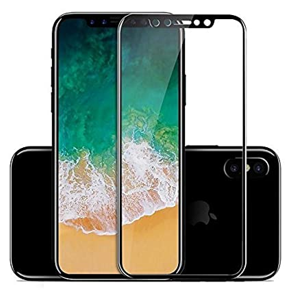 online retailer 1d30f 11a65 BRAND AFFAIRS Full Body Protection (Front Black Colour + Back Transparent)  Tempered Glass Protector for iPhone X With Camera Screen Protector Guard