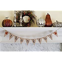 Thanksgiving Decoration, Thankful Banner