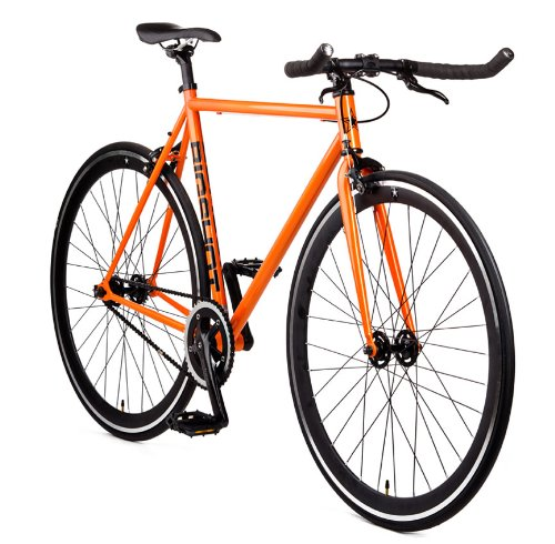 Big Shot Bikes | Havana Orange | Fixie Track Bike | Single Speed or Fixed Gear | Orange & Black Accents | For Men & Women | Rider Height 5'2 to 5'7 | Small