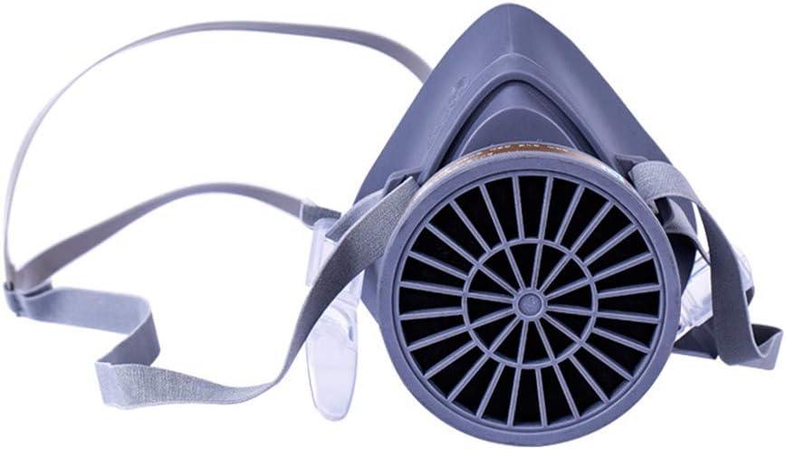 WDNM Respiratoria, Máscara Antipolvo, Máscara De Gas, Fácil De Respirar, Reutilizable, con Tapones para Los Oídos, Gafas Y 1 Filtros para Protección contra El Polvo, Pulido, Etc.