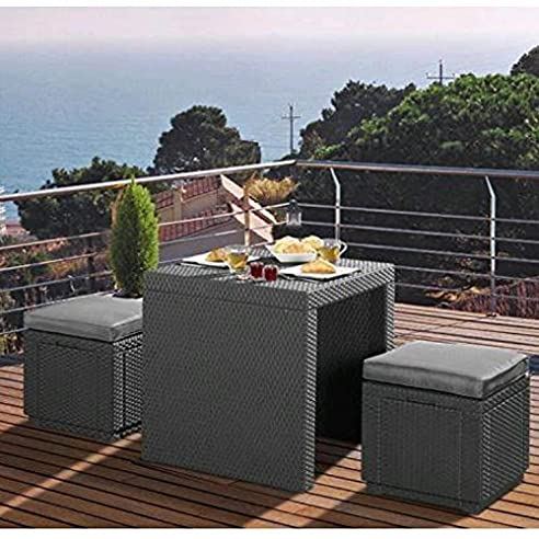 Amazon.de: 3tlg. Rattan Lounge Sitzgruppe \