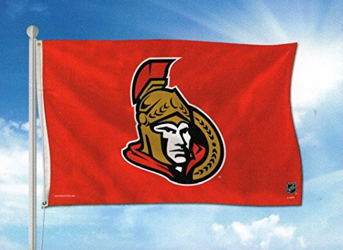 Rico Industries NHL Ottawa Senators 3-Foot by 5-Foot Single Sided Banner Flag with Grommets