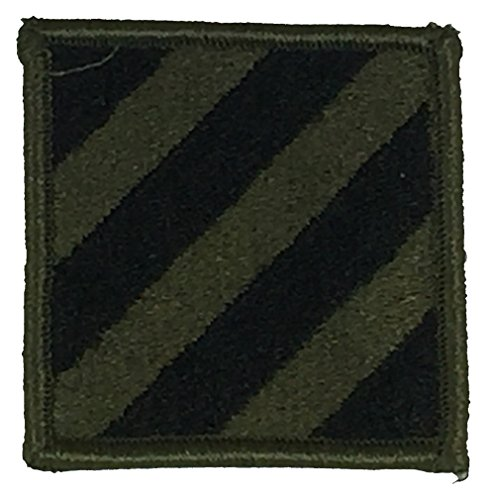 US ARMY 3RD INFANTRY DIVISION UNIT PATCH - OD Green/Black - Veteran Owned Business (Patch 3rd Infantry Division)