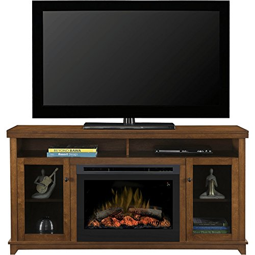 Dimplex Dupont Electric Fireplace & Entertainment Center - Log Set