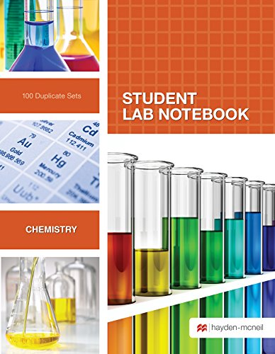 Student Lab Notebook: 100 Top Bound Carbonless Duplicate Sets (Laboratory Manual For General Organic And Biological Chemistry)