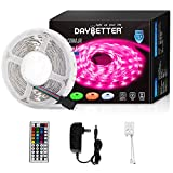 Led Strip Lights 16.4ft 5m Flexible Color Changing RGB Led Light Strip 5050 150leds LED Tape Lights Kit with 44 Keys IR Remote Controller and 12V Power Supply: more info