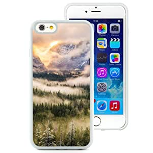 Nature Foggy Forest Mountains Landscape (2) Durable High Quality iPhone 6 4.7 Inch TPU Case