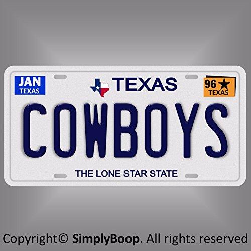 ootball Team TX 1996 Prop Replica Aluminum License Plate Tag ()