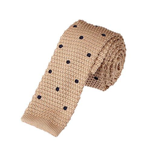 Dan Smith Fitness Polka Dots Microfiber Skinny Neck Tie For Husband