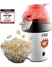 Russell Hobbs Fiesta Popcornmaskin, tillagar upp till 12 koppar popcorn (35-50g), Cirkulerande varmluft gör så att ingen olja behövs, doseringssked ingår, 1200 Watt, 24630-56