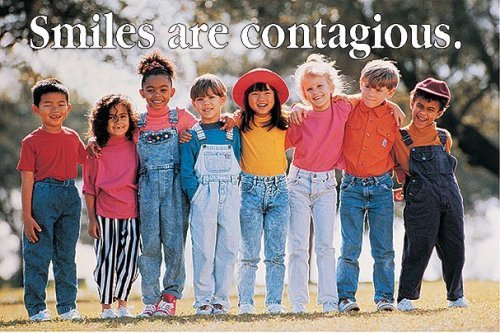 Smiles are contagious Poster by Schaffer Frank (2001-09-11) Poster ()