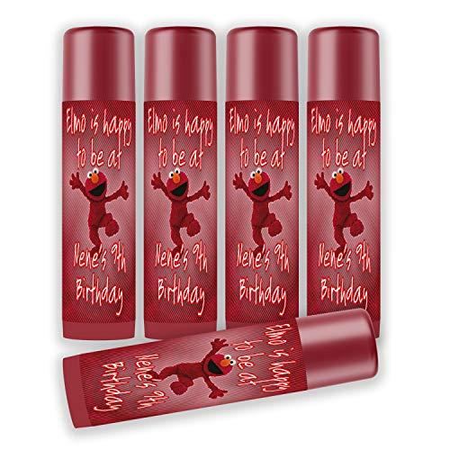 - 12 Personalized Elmo Lip Balm Labels