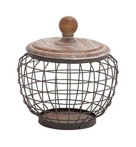 (Deco 79 Metal Wood Wire Jar, 10 by)