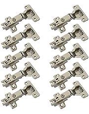 LIKERAINY 95° Standaard Volledig Opgelegd Scharnieren 35mm met Opschuifmontage voor Keukenkast Kast Kastdeur Scharnier Pak van 10