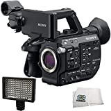 Sony PXW-FS5 XDCAM Super 35 Camera System + 160 LED Video Light + Microfiber Cleaning Cloth