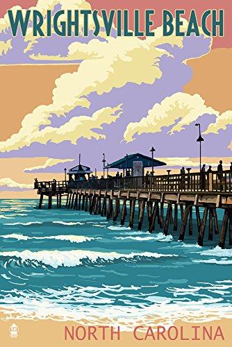 Wrightsville Beach, North Carolina - Beach Ball and Chair (16x24 Fine Art Giclee Gallery Print, Home Wall Decor Artwork Poster) (In North Chair Carolina Companies)