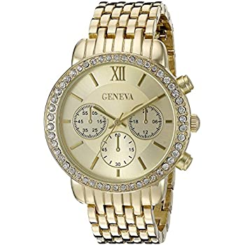 Geneva Womens FMDJM102B Analog Display Japanese Quartz Gold Watch