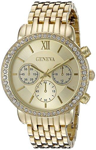 Geneva Women's FMDJM102B Analog Display Japanese Quartz Gold Watch