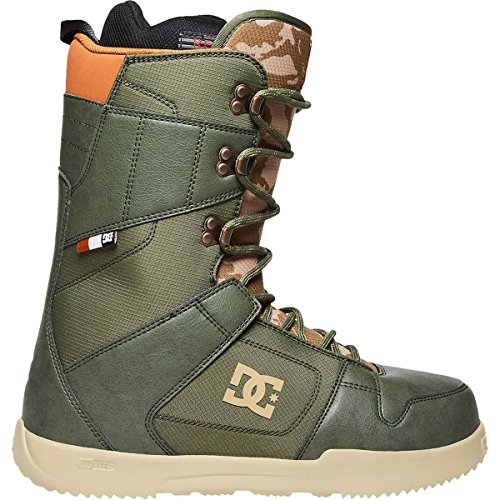 DC Men's Phase Lace Up Snowboard Boots, 9.5, Army