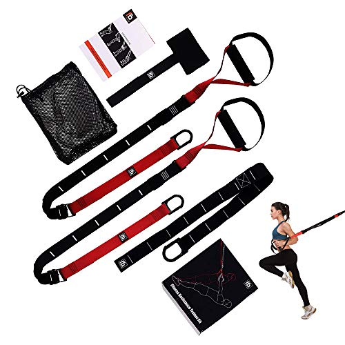 FullFitAble Resistance Straps Trainer Kit – Full Body Workout Fitness Equipment for Home and Gym – with 2 Bands, Extension, Door Anchor and Exercise bodyweight Guide – Light and Portable for Travel
