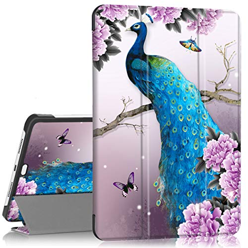 Smart Leather case for iPad pro 11,PIXIU Unique Patter Protective Leather Folding Stand Folio Cover with Auto Wake/Sleep for iPad pro 11 inch 2018 Released Peacock
