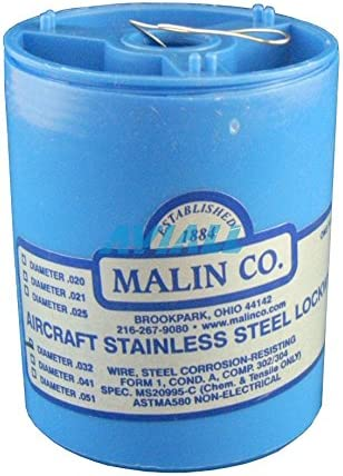Malin Aviation Stainless Steel Aircraft Lock//Safety Wire .021 Dia MS20995C